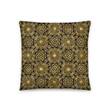 Black and Gold Art Deco Throw Pillow Case + Optional Pillow
