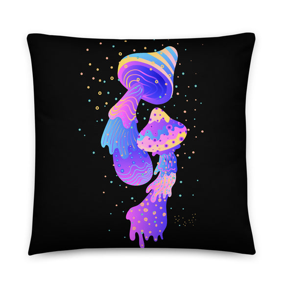 Magic Mushrooms Throw Pillow Case + Optional Pillow