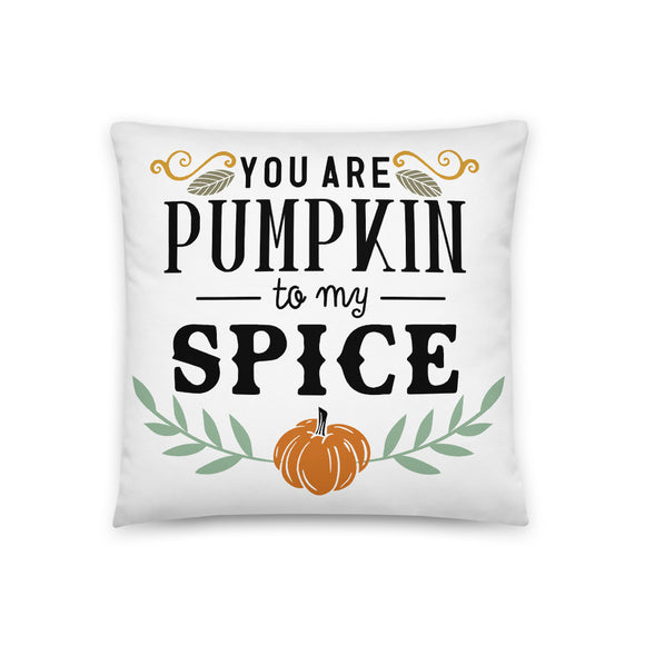 You Are Pumpkin to My Spice Throw Pillow Case + Optional Pillow