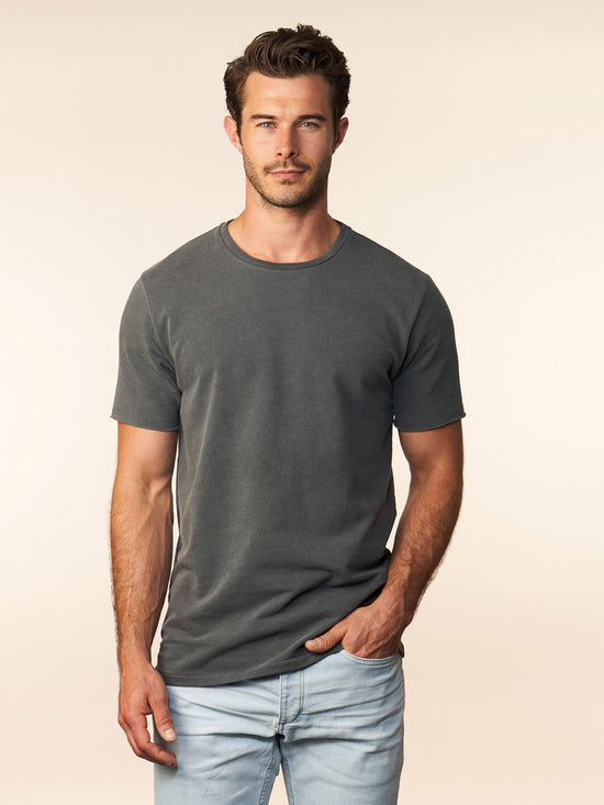 the terry tee - carbon