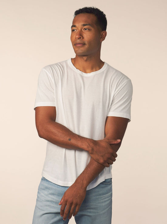men's cotton cashmere tee - white