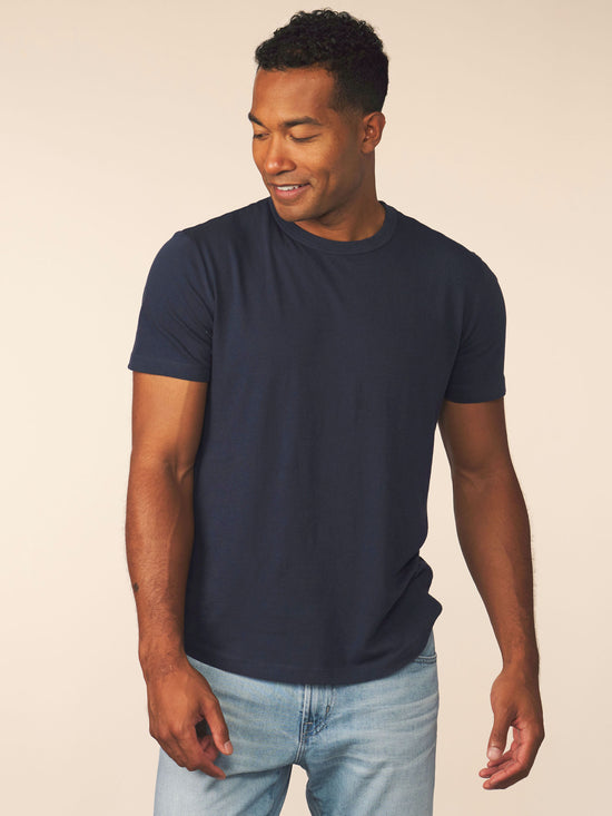 men's cotton cashmere tee - pacific