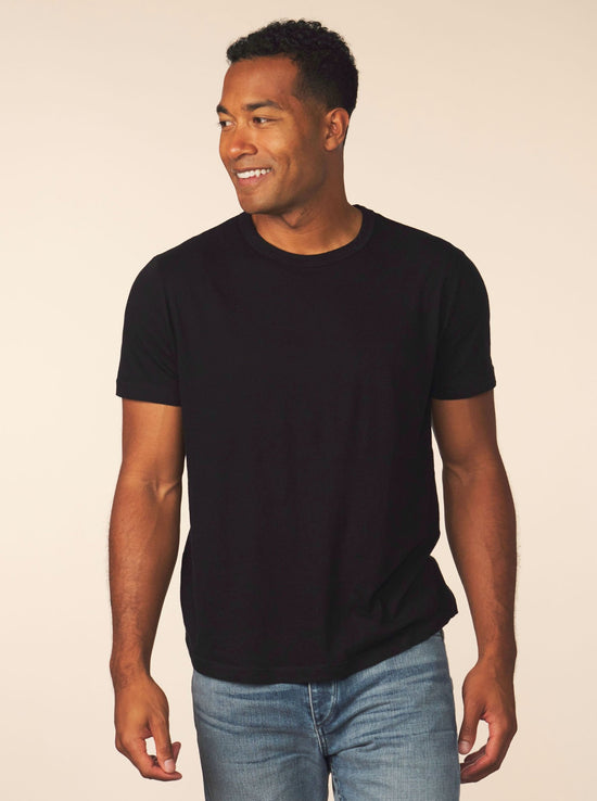 men's cotton cashmere tee - black