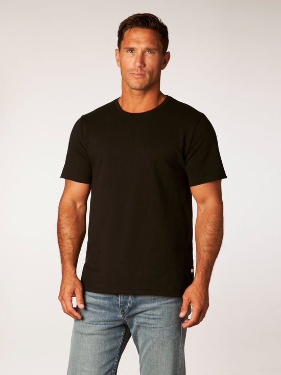 the terry tee - black