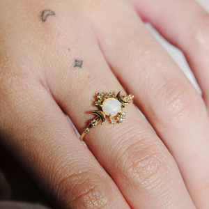 Opal Constellation Ring