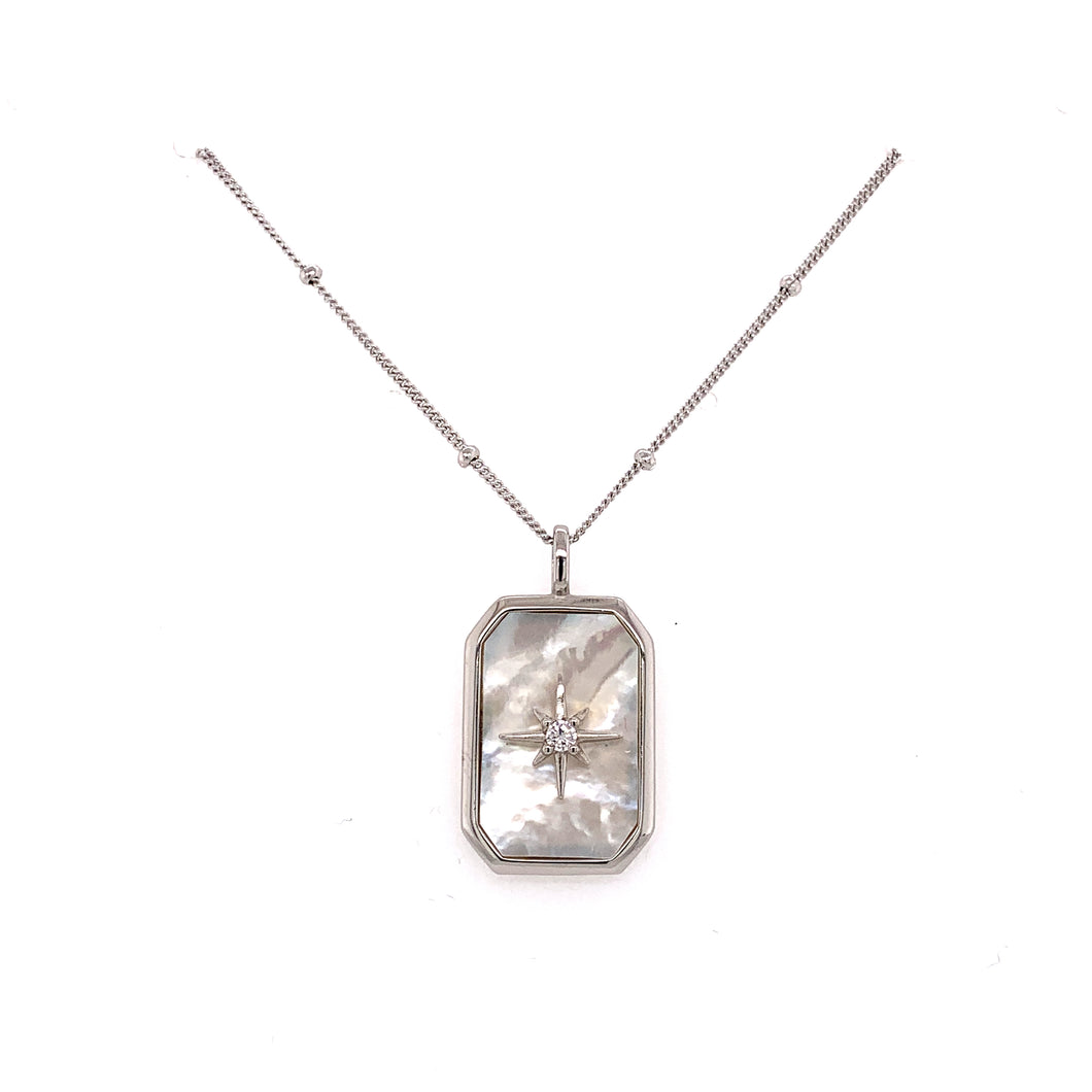 Sky Marker Mother of Pearl Necklace