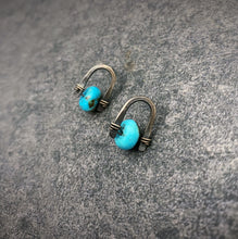 Load image into Gallery viewer, Arc Earrings: Turquoise
