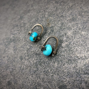 Arc Earrings: Turquoise