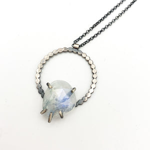 Eclipse Necklace: Rainbow Moonstone