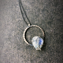 Load image into Gallery viewer, Eclipse Necklace: Rainbow Moonstone