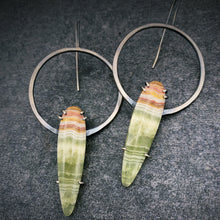 Load image into Gallery viewer, Ana Earring: Banded Agate