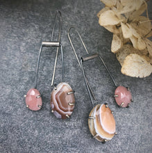 Load image into Gallery viewer, Duo Theia: Botswana Agate and Guava Quartz