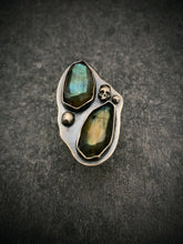 Load image into Gallery viewer, The Collector: Labradorite Armor Ring