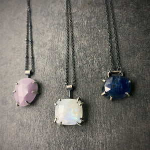 Gemstone Necklace: Kunzite