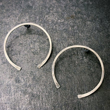 Load image into Gallery viewer, The Gate: Hammered Silver Earrings