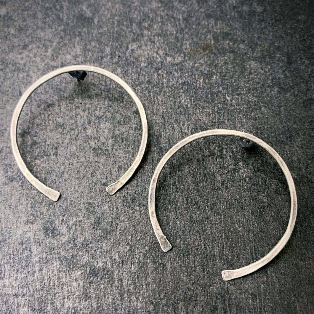 The Gate: Hammered Silver Earrings
