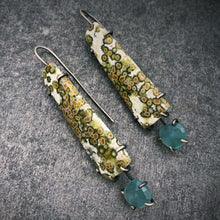 Load image into Gallery viewer, Theia Earrings: Ocean Jasper and Aquaprase