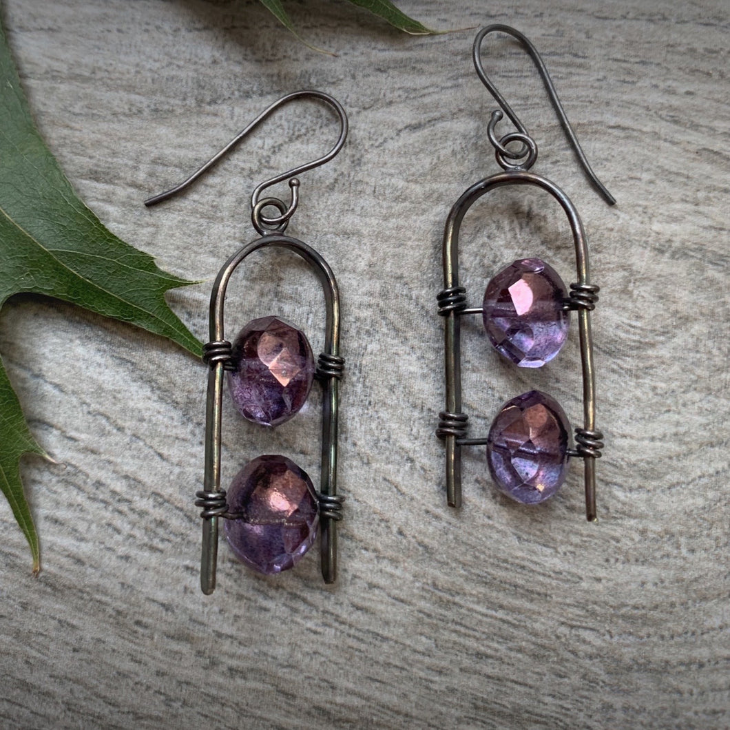 Uruz Earrings - Plum Purple