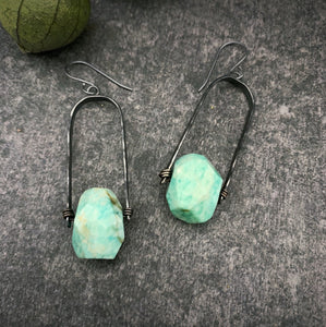 Uruz Earrings with Amazonite