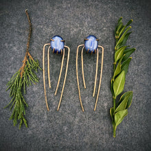 Load image into Gallery viewer, Talon Earrings in Bronze with Kyanite