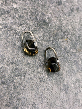 Load image into Gallery viewer, Arc Earrings with Smokey Quartz