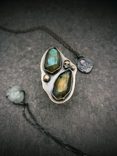 The Collector: Labradorite Armor Ring