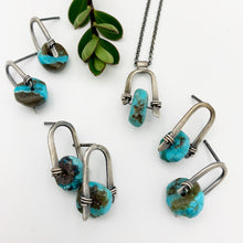 Load image into Gallery viewer, Icicle Earrings- Turquoise #2