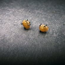 Load image into Gallery viewer, Gemstone Studs: Yellow Sapphire