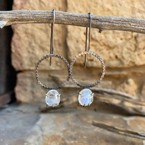 Luna Earring: Moonstone
