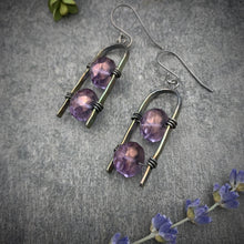 Load image into Gallery viewer, Uruz Earrings - Plum Purple