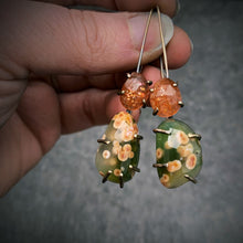 Load image into Gallery viewer, Theia Earring: Ocean Jasper and Sunstone