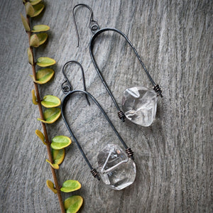 Uruz Earrings with Quartz Crystal
