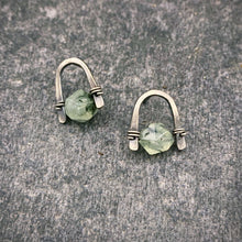 Load image into Gallery viewer, Arc Earrings with Prehnite