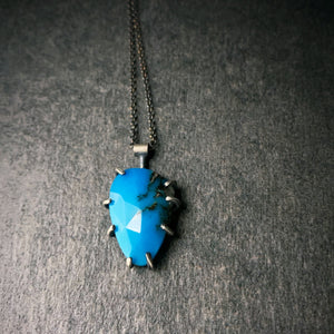 Theia Gemstone Necklace: Turquoise