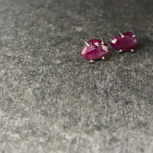 Gemstone Studs: Ruby