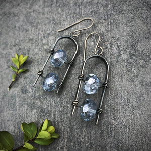 Uruz Earrings - Storm Blue