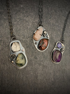 The Collector: Moonstone and Ocean Jasper Necklace