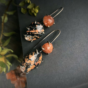 Theia Earring: Jasper and Sunstone