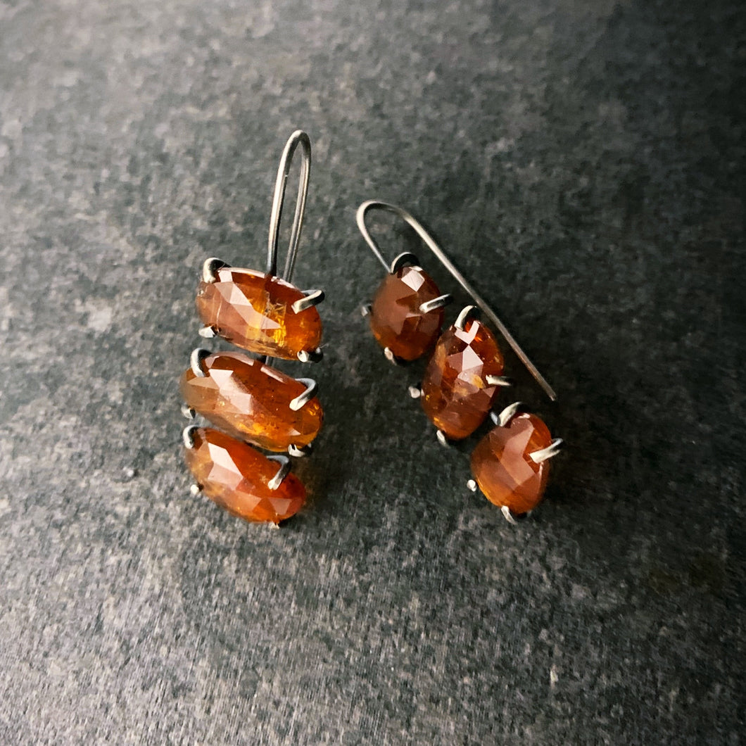 Theia Earring: Triple Orange Kyanite