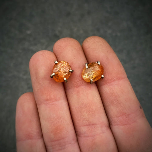 Gemstone Studs: Sunstone