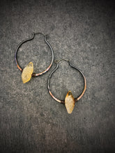 Load image into Gallery viewer, Citrine Ombre Copper Hoops