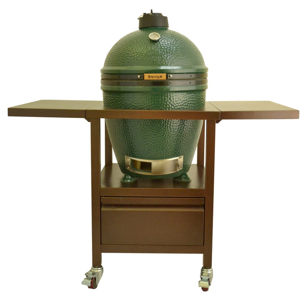 big green egg kamado compact crate with side shelves lifestyle outdoor. Black Bedroom Furniture Sets. Home Design Ideas
