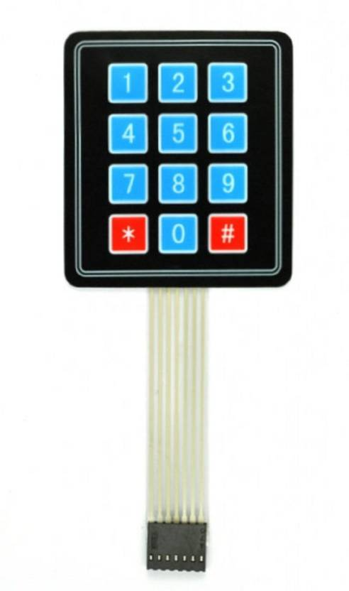 MEMBRANE 3X4 MATRIX KEYPAD (Blue)