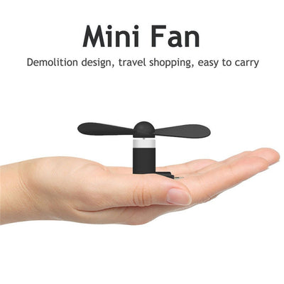 Mini Portable Cool Micro USB Fan