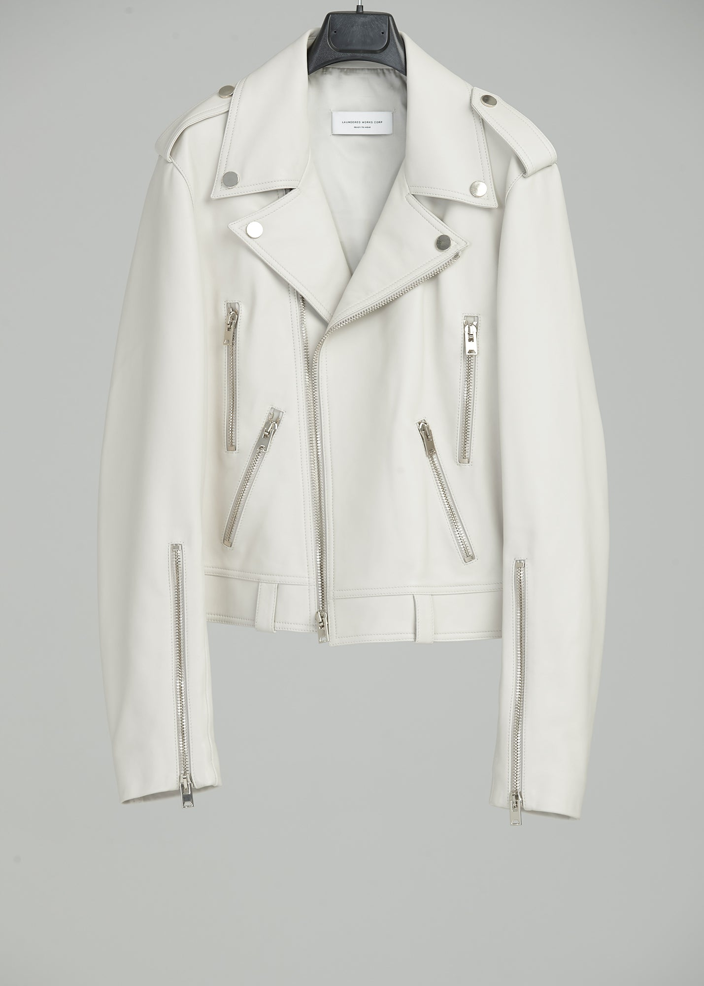 Load image into Gallery viewer, PERFECTO JACKET (LEATHER)(OATMEAL)