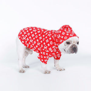 Supreme Louis Vuitton Hoodie for Dogs