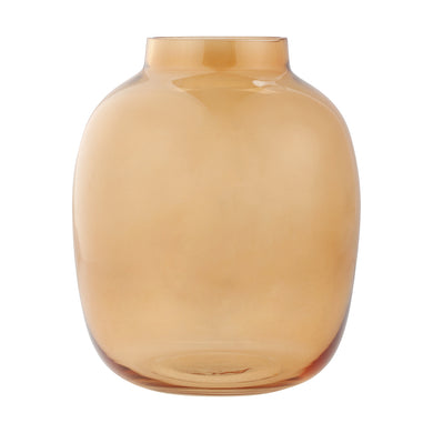 Amber Glass Vase (self collect only)