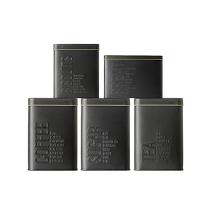 5 Matte Black Canisters