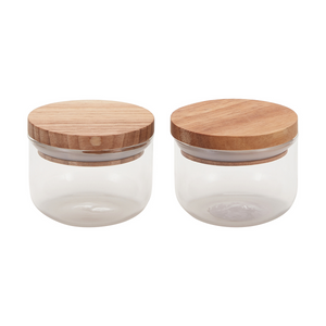 2 Mini Glass Canisters