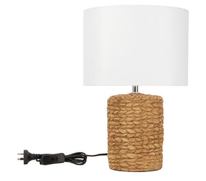 Rattan Look Base Table Lamp